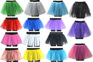 Tuetue-Tutu-XS-XXL-Glitzer-Sterne-Tuellrock-Petticoat-Ballettkleid-Ballett-Rock-Neu