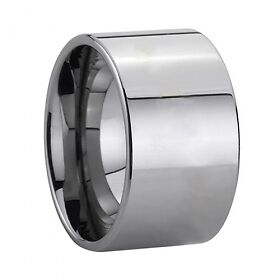 Tungsten Carbide Ring 12MM Pipe Cut Style Ring Men Wedding Band - TG016 in Jewelry & Watches, Men's Jewelry, Rings | eBay
