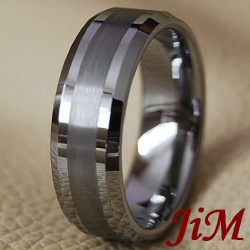 Tungsten Carbide Wedding Band Mens Ring Titanuim Color Bridal Jewelry Size 6-15 in Jewelry & Watches, Men's Jewelry, Rings | eBay