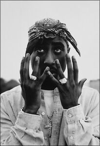 Tupac Shakur Poster Black and White New 13x19 High Gloss ...