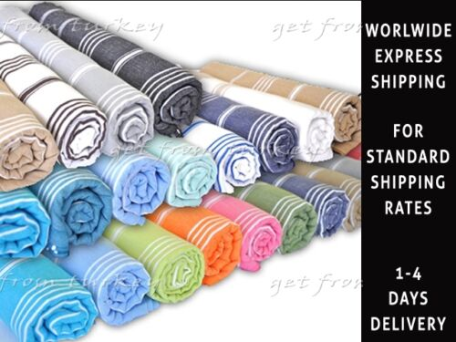 Turkish Bath Hamam Spa Sauna Beach Yacht Gym Yoga Towel Hammam Peshtemal Cotton in Home & Garden, Bath, Towels & Washcloths | eBay