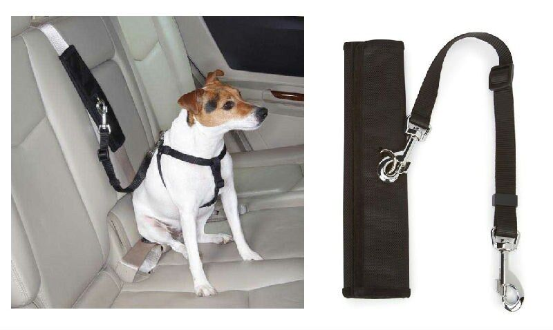 Dog Harness Seat Belt Connectors Turn Walking Harnesses In