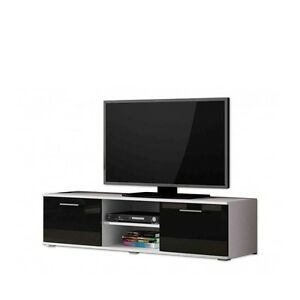 tv schrank soho tv unterschrank tv lowboard wei schwarz hochglanz ebay. Black Bedroom Furniture Sets. Home Design Ideas