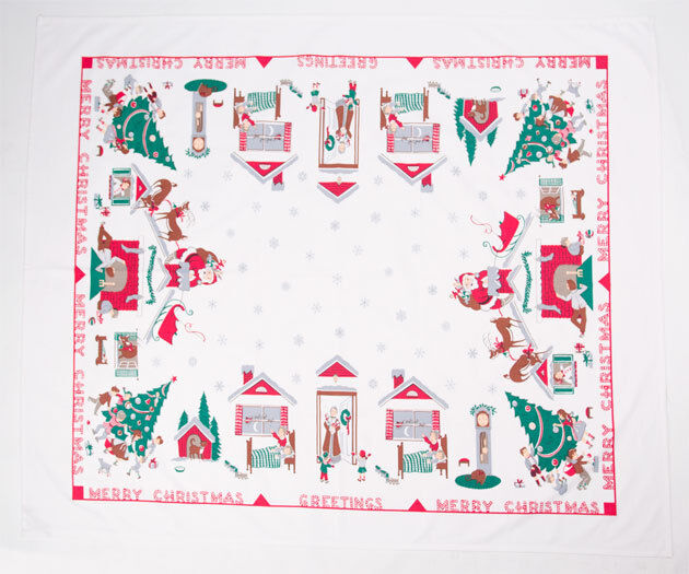 """Twas The Night Before Christmas TABLECLOTH 65"""" long"""
