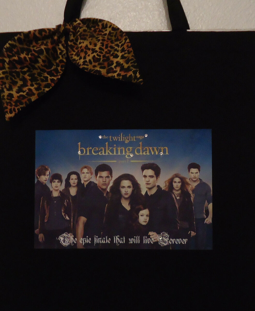 Twilight Saga Breaking Dawn Part 2 Sexy Cast Sparkle Cheetah Bow Tote