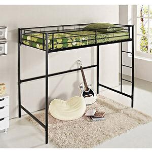 Details about Twin-Over-Loft Metal Bunk Bed Double, Loft, Workstation ...