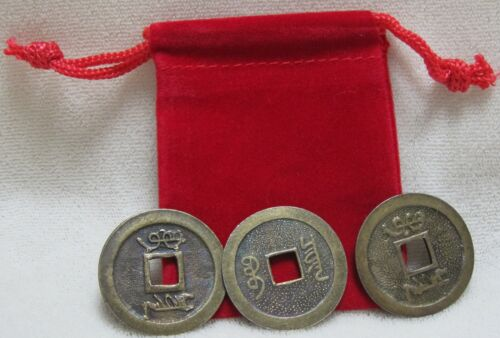Two Feng Shui Red Pouches with Six Lucky Chinese Coins for Prosperity and Wealth in Everything Else, Metaphysical, Feng Shui | eBay