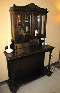 room store furniture Two Tier Hallway Curio Cabinet at