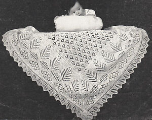 Shetland Lacy Baby Shawl Patterns ~ 2 ply~ ~ Knitting Pattern | eBay