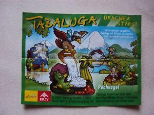 U-Ei-BPZ-Beipackzettel-Tabaluga-Drachen-stark-Pechvogel
