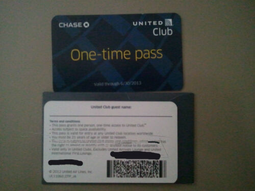 UA United Airlines Continental Club Pass Discount Certificate Coupon in Travel, Other | eBay