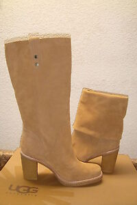 UGG-JOSIE-CHESTNUT-SUEDE-CONVERTIBLE-BOOT-USA-10-EU-41-UK-8-5-NEW