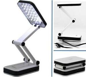 ultrahelle tischlampe 24 led mit akku 800mah und netzteil arbeitslampe ebay. Black Bedroom Furniture Sets. Home Design Ideas