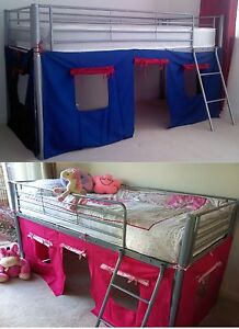 UNDER BED BLUE/RED, PINK TENT ONLY, FOR MID SLEEPER, CABIN ...
