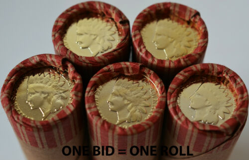UNSEARCHED WHEAT PENNY SHOTGUN ROLL W/ GOLD PLATED INDIAN HEAD CENT ENDS COINS in Coins & Paper Money, Coins: US, Collections, Lots | eBay