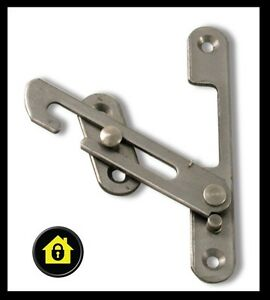 Upvc hook window restrictor child lock restrictor safety for Entrebailleur de fenetre