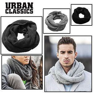 URBAN-CLASSICS-Tube-Scarf-Herren-Damen-Schal-Strickschal-Loop-Schlauch-Winter