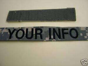 us army digital acu name tape velcro custom embroidery ebay. Black Bedroom Furniture Sets. Home Design Ideas