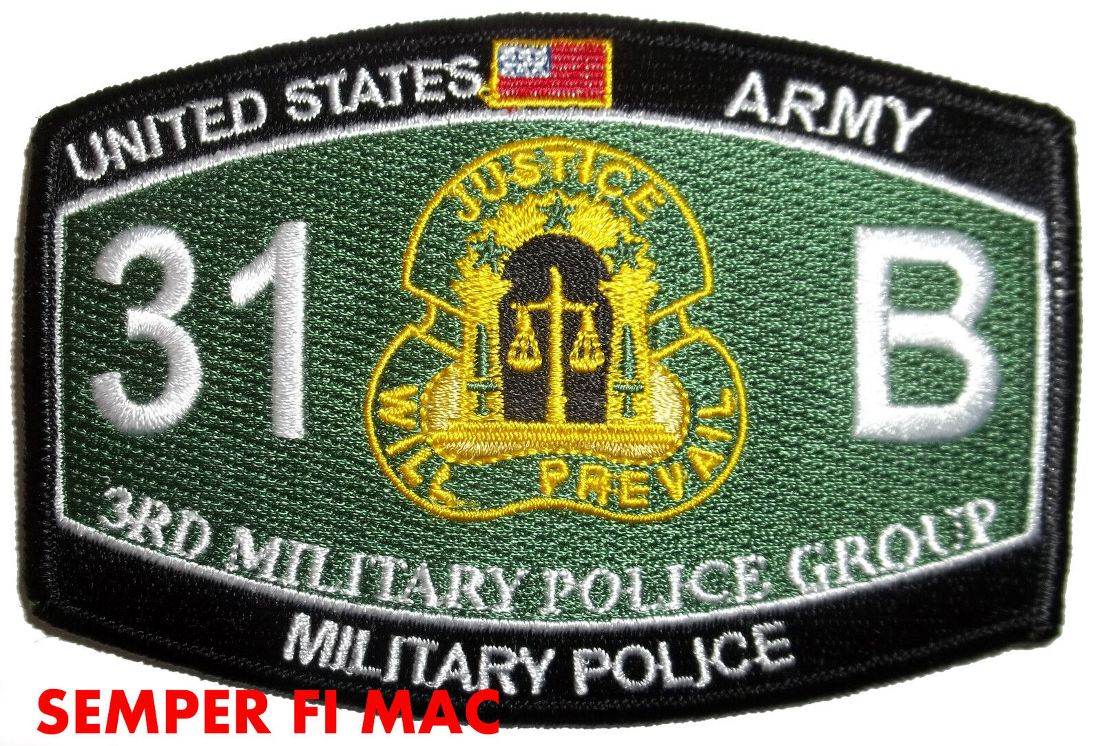 3rd MILITARY POLICE GROUP CID HAT PATCH 31B MOS MP Hunter US