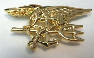 Us navy seals seal team extra large trident pin 2 75 inches ebay