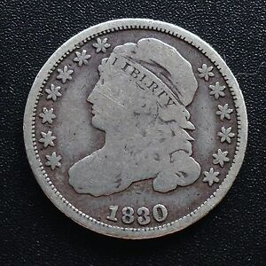 USA-1830-Dime-Capped-Bust-10-Cent-Philadelphia-Silber-Selten-2059