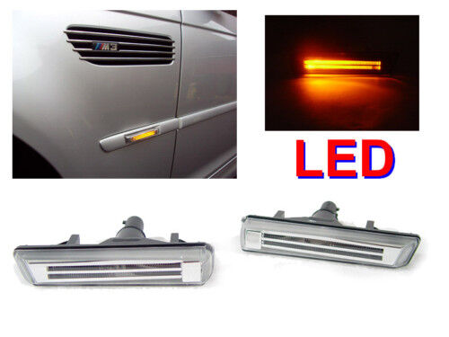 USA Depo 95 01 BMW E38 Light Bar Amber LED Fender Clear Side Marker Lights