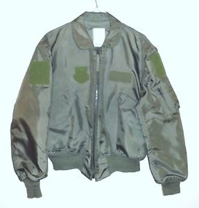 USAF-CWU-36-P-SAGE-GREEN-FLIGHT-JACKET-EXTRA-LARGE-VG-TO-EXC-USED-CONDITION