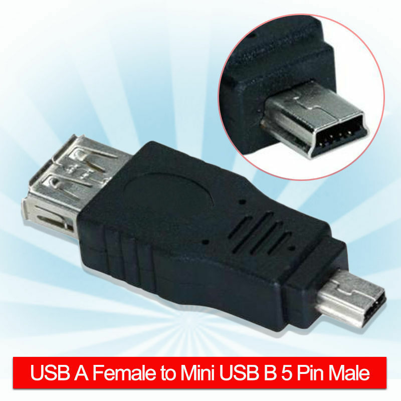 2xusb 2 0 adapter typ a kupplung buchse auf mini usb. Black Bedroom Furniture Sets. Home Design Ideas
