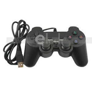 USB-GamePad-Shock-Joypad-PC-Computer-Controller-Black-US-Free-Shipping-New