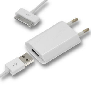 USB-Ladekabel-Lader-Lade-Adepter-Charger-fuer-Apple-iPhone-4-4G-4S-Neu