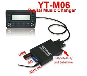 USB-SD-Adapter-MP3-CD-Wechsler-Mercedes-C-E-W140-W202-W210