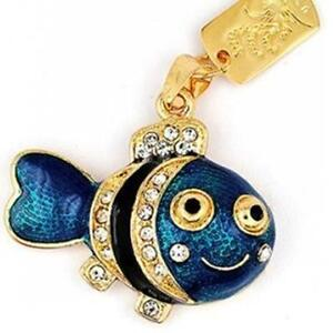 usb stick 16 gb fisch zierfisch schmuck anh nger kette strass gr n blau gold ebay. Black Bedroom Furniture Sets. Home Design Ideas