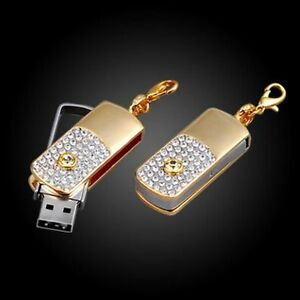 usb stick 16 gb schmuck strass schl ssel taschen anh nger gold kristall optik ebay. Black Bedroom Furniture Sets. Home Design Ideas