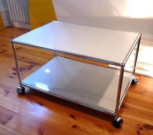 usm haller rollwagen rolltisch reinwei wei tv pc. Black Bedroom Furniture Sets. Home Design Ideas