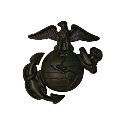 USMC EGA Insignia Enlisted Cap Hat Device Badge Black