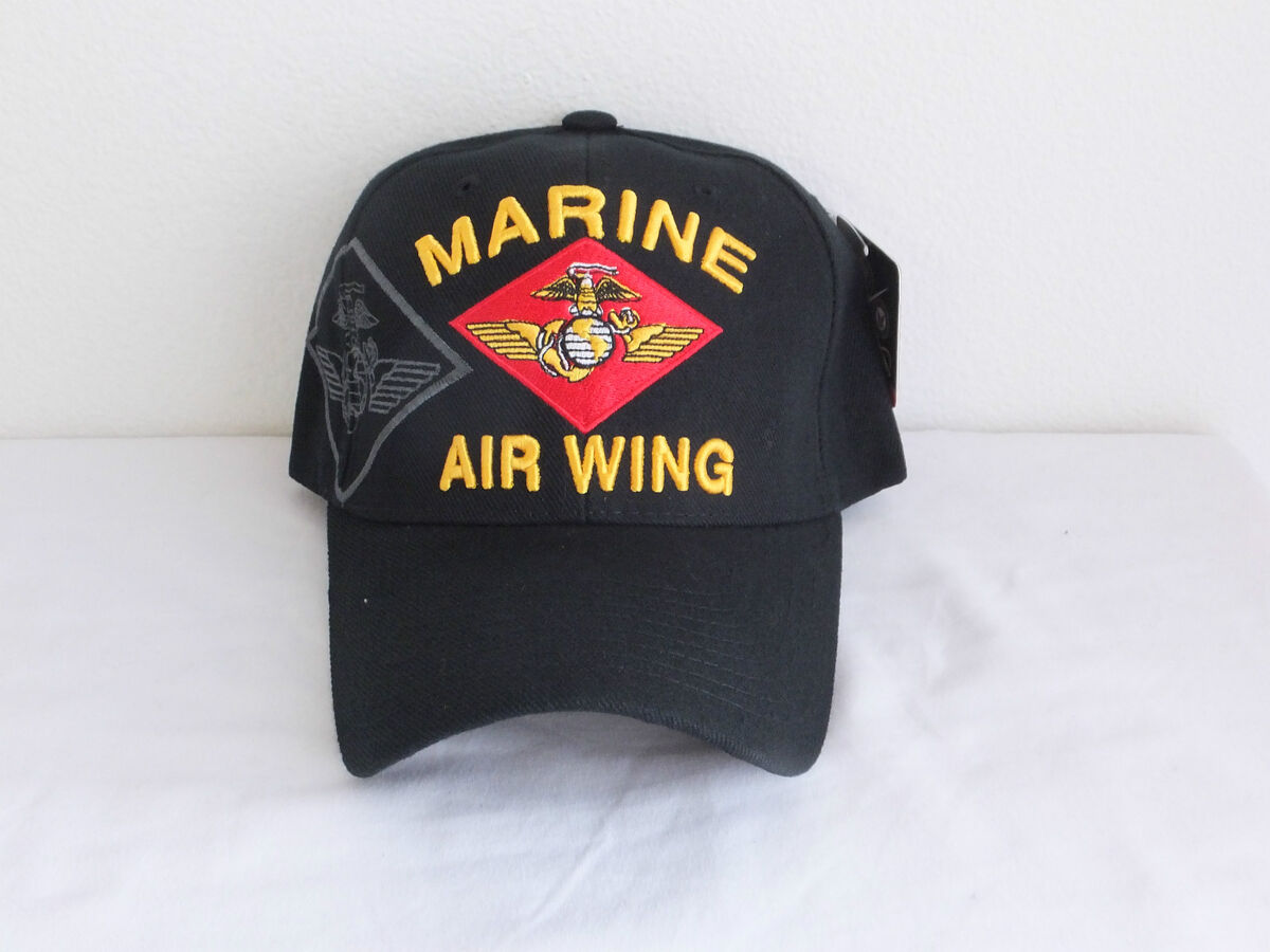 b1d08ae7158 USMC Marine Air Wing Maw Military Ball Cap Marine Corps Hat on PopScreen