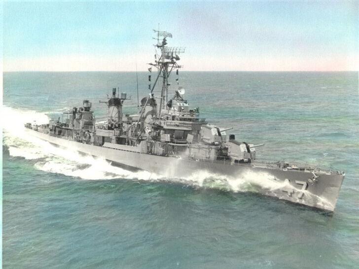 USS Cowell DD-547 HAT PIN US NAVY DESTROYER FLETCHER CLASS ...