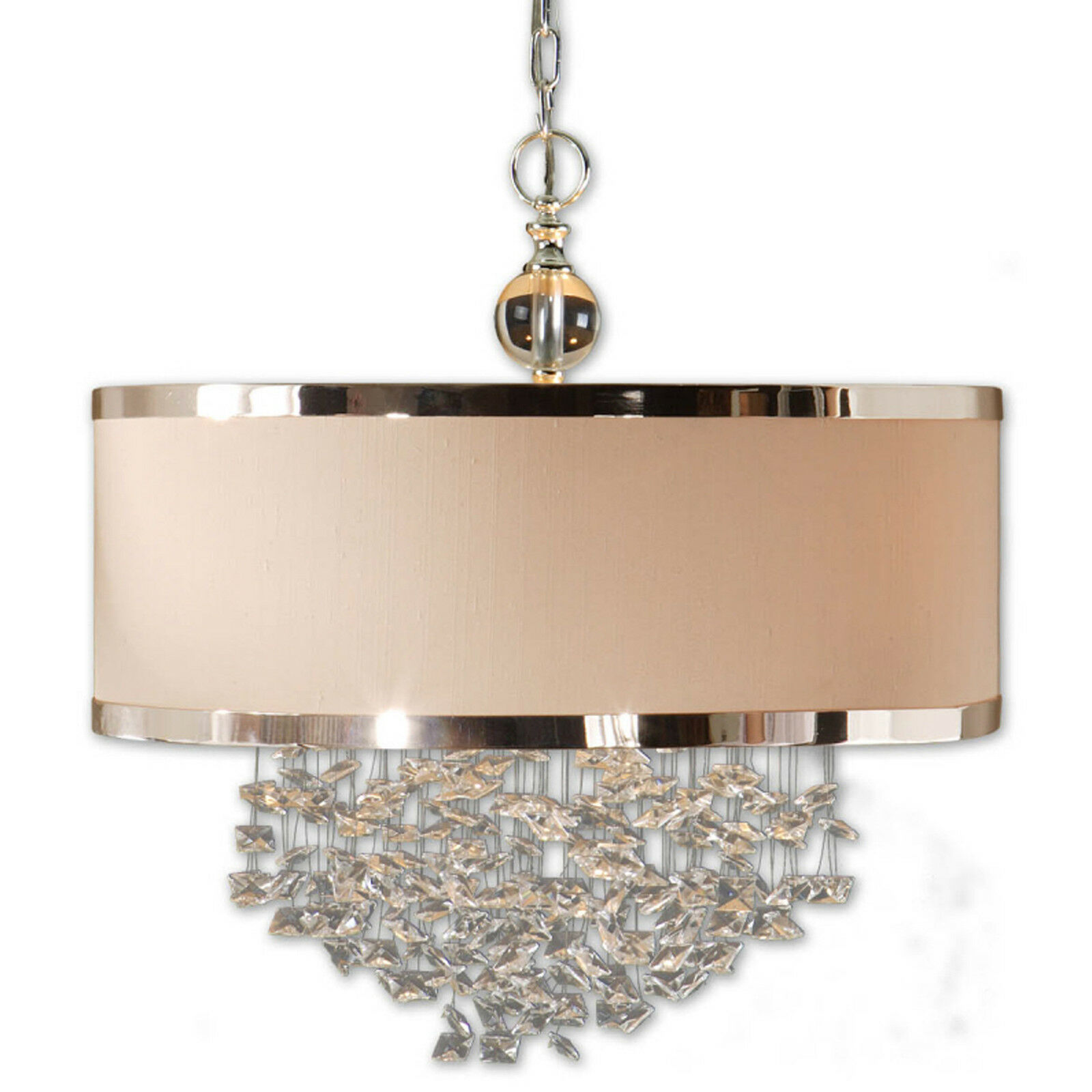 Contemporary Modern Crystal Drum Shade Chandelier 792977219089