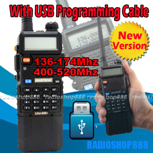 UV-5R (136-174/400-520) BAOFENG Dual band Radio Upgrade 3600 Battey +USB cable in Consumer Electronics, Radio Communication, Ham, Amateur Radio | eBay