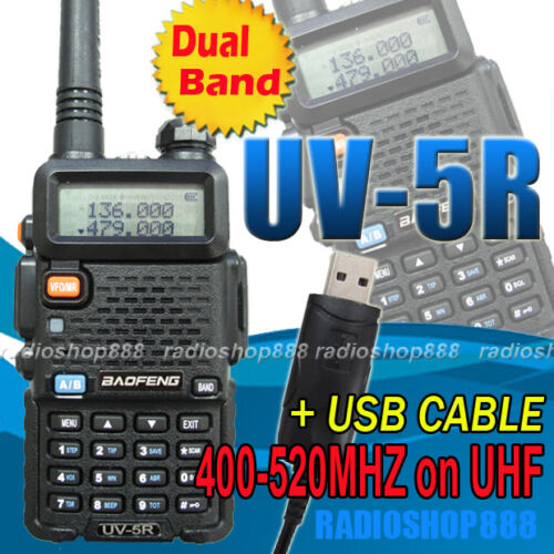 UV-5R BAOFENG Dual band 136-174 ( 400-520 ) + free USB Prog Cable + software CD in Consumer Electronics, Radio Communication, Ham, Amateur Radio | eBay