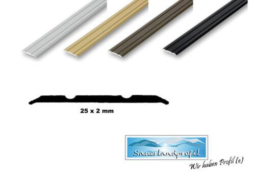 edelstahl bergangsprofil 20 50 mm breit abschlussprofil ausgleichsprofil v2a ebay. Black Bedroom Furniture Sets. Home Design Ideas
