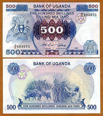 Uganda, 500 Shillings, 1986, P-25, UNC
