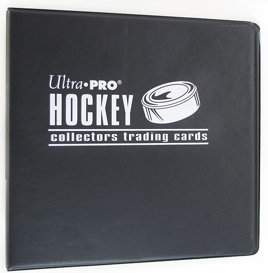 "Ultra Pro 3"" Hockey Trading Card Collector's Album (Black"