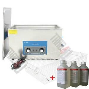 Ultraschallreiniger-Ultrasonic-Geraet-30L-komplet-aus-Edelstahl-Deckel-Korb