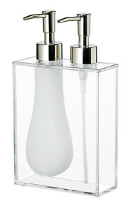 Cork Pump for Soap Dispenser http://www.ebay.com/itm/Umbra-Duo-Double-Soap-Pump-CLEAR-Acrylic-Liquid-Hand-Wash-Lotion-Soap-Dispenser-/180889347422