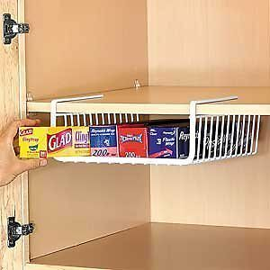 under shelf wire rack storage organizer kitchen cabinet