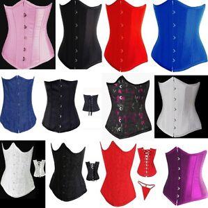 underbust lace up g string sexy corset waist cincher top