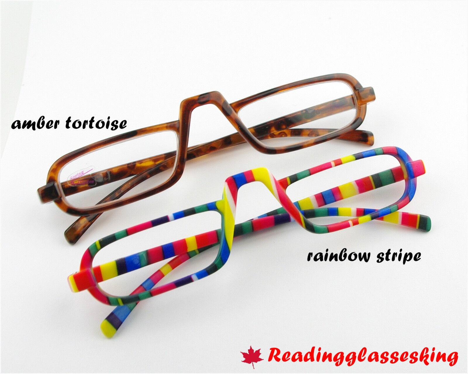 ego unisex style design reading glasses rainbow stripe