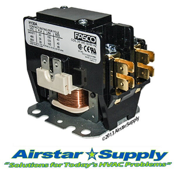 rheem ramb 036jaz contactor 1 pole 30 amp 24v coil ebay