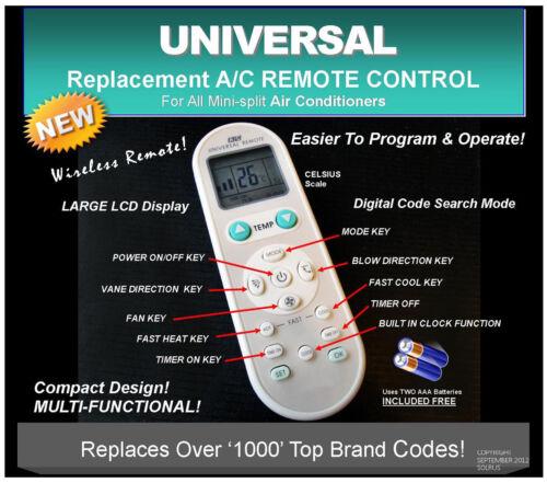 Universal A/C Remote Replacement-Haier,Chigo,York,LG,Fujitsu,Samsung,Sanyo,Trane in Consumer Electronics, Home Automation, Controls & Touchscreens   eBay